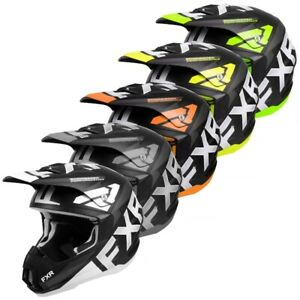 FXR Torque Team Snowmobiling Helmet - White, Black, Orange, Hi-Vis, or Lime