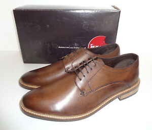 IKON Mens Classic Brown Leather Smart Dress Shoes New Formal Office Sizes 7-11