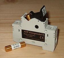 AHP Klangmodul III für Sicherung 10x38mm Fuse holder gold plated -ohne Sicherung