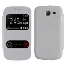 Housse Coque View Case BLANC Samsung Galaxy Trend Lite S7390 Fresh Duos S7392