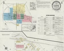 Ahoskie, North Carolina ~Sanborn Map©sheets~19 maps in color~1923 to 1940