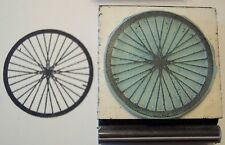 Bicycle Wheel rubber stamp by Amazing Arts sharp