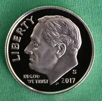 2017 S Silver Proof Roosevelt Dime Ten-Cent Coin 10c