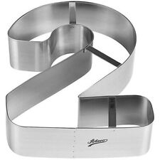 Ateco 6962 Number 2 Large Cake Cookie Cutter 7-1/4 Inch