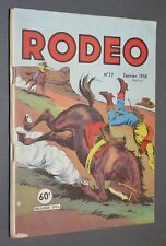 PETIT FORMAT LUG RODEO EO N°77 JANVIER 1958 MIKI LE RANGER TEX WILLER