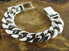 PANZERARMBAND Silberarmband 19MM BREIT Feingehalt Massiv Silber 925 bracelet
