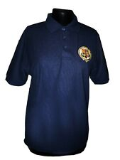 M&GN Polo Shirt with Embroidered Crest, Sizes XS, S, M, L, XL, XXL.