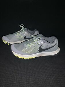 Women's Nike Air Zoom Terra Kiger 4 Grey/Volt 880564-002 Trail Running - Size 6