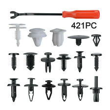 421PCS Car Body Trim Clips Retainer Bumper Rivets Screw Panel Push Retainers Set