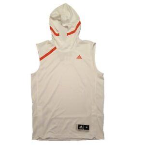 adidas Hoodie Miami Hurricanes Men's Sleeveless Shooter Shirt Hooded