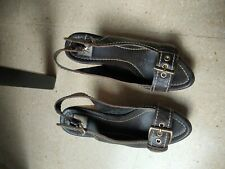 Leather and wood sandals. Zara Vintage exclusive. Size 37