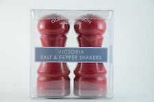 OLDE THOMPSON VICTORIA SALT & PEPPER SHAKERS - RED -NEW