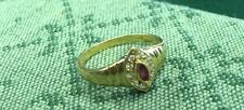 Vintage 18ct Gold marquise cut Ruby ring finger size M/N