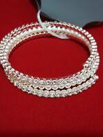 Elegant Fashion Crystal Rhinestone Pearl Bangle Bracelet Wedding Bridal