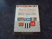 livre ARMOIRIES DES VILLES DE BRETAGNE  - Michel FROGER