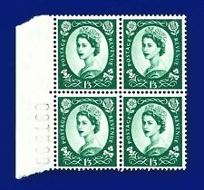 1966 SG618 1s3d Green S147 Marginal Block (4) MNH CV £7.60 ankn