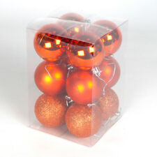 PACK OF 12 SHATTERPROOF ASSORTED CHRISTMAS XMAS TREE DECORATION 6CM BAUBLE BALLS