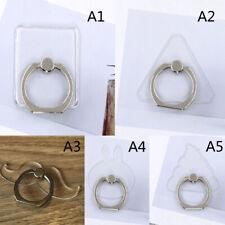 Universal transparent mobile phone finger ring holder stand_gu