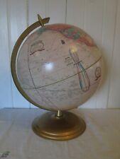 "Vintage Cram's Imperial World Globe - USSR Ivory Coast - 12"" Metal Base"