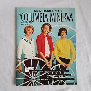 Vintage Hand-Knits by Columbia Minerva VOL 733 Sweater Knitting Instructio 1960s