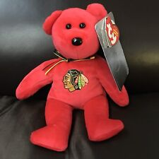 TY Beanie Baby - STANLEY the Bear (RED) (NHL Chicago Blackhawks Limited Edition)