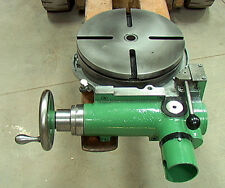 "12""Rotary Table with forward, neutral, reverse gearbox power drive input+handwhe"