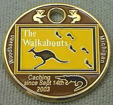 The Walkabouts 2008 Pathtag GEOCACHING Pathtags Geocoin # 7904 Kangaroo