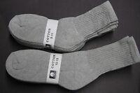5 Pairs Men's & Women's Long Sports Crew Cotton Blend Socks Solid Gray 10-13