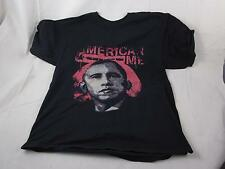 "American Me Mens Tshirt Obama in Red Black Gildan Ultra Cotton Large L 40"" Chest"