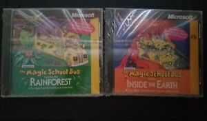 2 The Magic School Bus PC Education games Microsoft INSIDE The EARTH- RAINFOREST