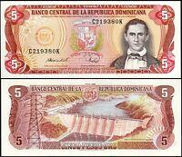 Dominican Republic 5 Pesos Oro, 1988, UNC, P-118c