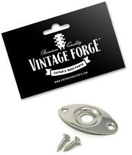 NICKEL OVAL FOOTBALL JACK PLATE RECESSED FOR IBANEZ JACKSON GUITAR & BASS *NEW*