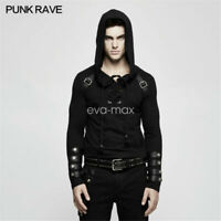 PUNK RAVE Mens Long sleeves Sweater Shirts Gothic Steampunk Top visual kei Rock