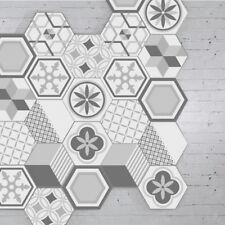 10 PCS ART GREY SELF-ADHESIVE NON-SLIP BATHROOM KITCHEN FLOOR WALL TILE STICKERS