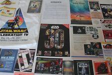 Star Wars CELEBRATION IV Weekends PROMO LOT Program Badges Cards Book Exclusives