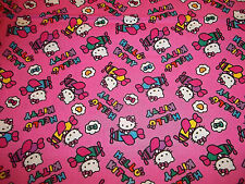 """HELLO KITTY AIRPLANE TOSS  FABRIC 100% COTTON  - NEW - CUTE BTY """" HTF"""""""
