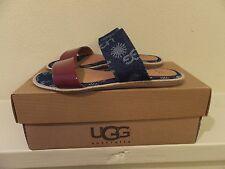 Sz 5 Womens UGG Australia Amalia Flat Sandals Shoes 10003503 Denim Blue (youth 3
