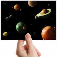 "Funny Avocado Planet Space Small Photograph 6"" x 4"" Art Print Photo Gift #12965"