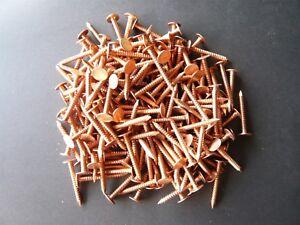 "approx. 240 pcs 1/"" Copper Roofing Nails 11 gauge 1lb"