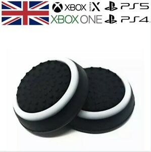 Black & White Thumb Grips Analog Stick Cap Covers PS5 XBOX Series X Controller