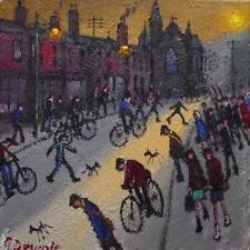 Original BEST Oil Painting Noted Artist James Downie : Sunset Longsight Road