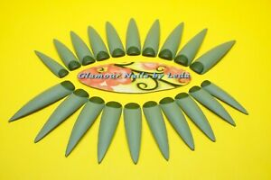 Set of 20 Full Cover Long Stiletto Nails Go Green