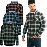 Mens Lumberjack Shirts Long Sleeve Flannel Brushed Cotton Check Work Brave Soul