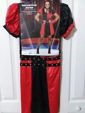 Juniors Dress Mischievous Jester Dress Halloween Costume Size S 5-7