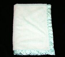 Target Limited Edition Frosted Green Plush Baby Blanket Satin Trim