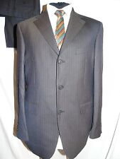 TED BAKER -ACCELERATED FAB DESIGNER BROWN PINSTRIPE WORK SUIT UK 40 EU 50