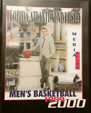 1999-2000 Florida Atlantic FAU Owls Men's Basketball Media Guide