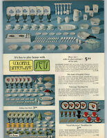 1968 PAPER AD 2 Pg Toy Dishes English China Tole-Type Milk Glass Peanuts Skandia