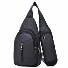 USB Sling Backpack Travel Daypack Chest Gym Crossbody Hiking Bag for Men Women