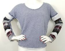 Anthropologie We The Free People Small Top Heavy Knit Sleeve Sweatshirt Thermal